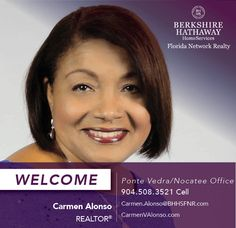 BERKSHIRE HATHAWAY HOMESERVICES FLORIDA NETWORK REALTY WELCOMES CARMEN ALSONSO