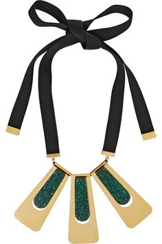 Marni Gold-plated resin necklace NET-A-PORTER.COM