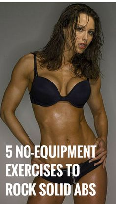 Rock solid abs with no-equipment exercises. Do them anywhere. #abs #fitness #workout #health