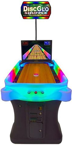 Arachnid DiscGlo Shuffleboard Table Bowling Home Arcade Game