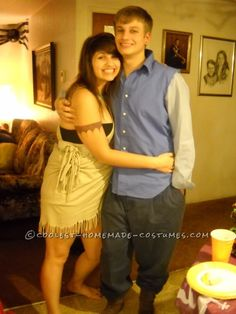 Pocahontas and John Smith Couple Costume