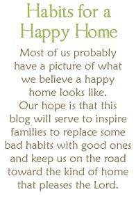 developing habits » Habits for a Happy Home