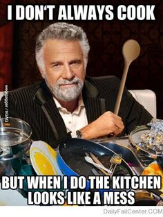The annoying part of cooking.. but hey I do clean up afterward!