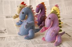 Little felt dragons for those dragon babies this year.