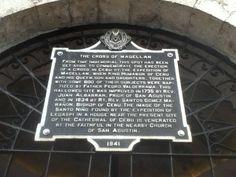 Cebu- Historical plaque outside the dome housing Magellan's Cross