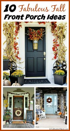 Unsure how to decorate your front porch for autumn? Take a look at these 10 fabulous fall front porch ideas and be inspired!