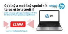Nové nižšie ceny na notebooky HP 350. Navrhnuté na podnikanie, odolné prevedenie.