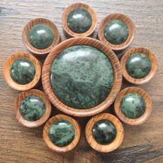 Did you know we now stock these beautiful Teak with Green Stone Plugs in sizes up to 50mm, Go get them! www.ukcustomplugs.co.uk #plug #plugs #gauges #ukcp #ukcplugs #ukcustomplugs