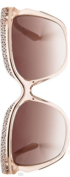 Jimmy Choo Nude Sunglasses #jimmychooglasses