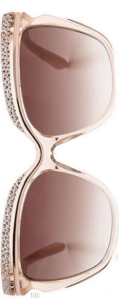 Jimmy Choo Nude Sunglasses #jimmychooglasses