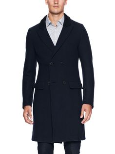 Double Breasted Overcoat by Giorgio Armani at Gilt