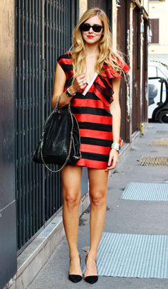 red and black stripes!