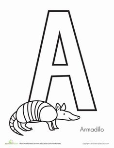 a is for armadillo coloring worksheetswriting worksheetspreschool worksheetspreschool lettersfree worksheetsprintable worksheetsfree printablescoloring - Armadillo Coloring Pages Print