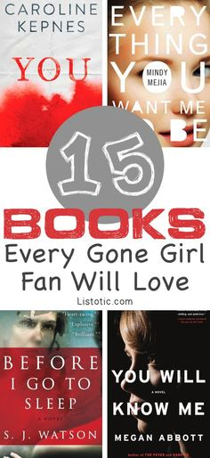 Spectacular books that every Gone Girl fan will LOVE! Books to read for women, or anyone who loves a good suspense thriller. :)