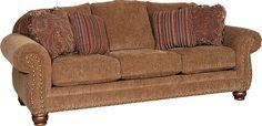 Mayo Furniture 3180F Fabric Sofa - Impressive Umber