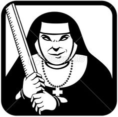 Cartoon evil fetish nun