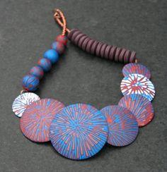 polymer clay, Wintersparkles, necklace, via Flickr.