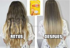 Mask cornstarch to repair hair Messy Hairstyles, Pretty Hairstyles, Curly Hair Styles, Natural Hair Styles, Hair Repair, Tips Belleza, Dream Hair, Hair Looks, Healthy Hair