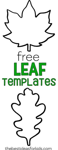 Free Printable Fall Leaf Templates - perfect leaf outlines. #bestideasforkids #fall #fallcrafts #leaf #kidscrafts