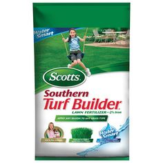Scotts Turf Builder (North) ft Lawn Food at Lowe's. Scotts Turf Builder Lawn Food helps you to build a thick, green lawn. It's formulated with exclusive Scotts(R) All-In-One Particles(R) to provide an even Grass Species, Turf Builder, Drainage Ditch, Bermuda Grass, Lawn Fertilizer, Grass Type, Lawn Sprinklers, Lawn Care, Animals For Kids