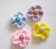 Happy Little Flowers by grannyscraftattic on Etsy, $4.00