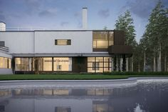 Alvar Aalto, Villa Mairea at Dusk on Behance
