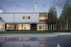 Alvar Aalto, Villa Mairea at Dusk on Behance