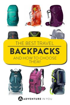 Looking for the perfect travel backpack for your journey around the world? Here's our list of the best travel backpacks for Choosing the. Backpacking Tips, Hiking Gear, Hiking Backpack, Packing Tips For Travel, Travel Essentials, Travel Bags, Travel Info, Best Backpack For Travel, Travel Rewards