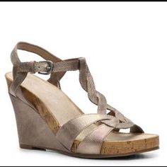 4b7fdd8d91b Audrey Brooke Wanda Wedge Sandal...cute! Nice wedge to wear to a ...