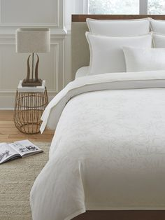 This cotton-cashmere bedding is our most luxurious innovation yet. Inspired by Italian landscapes and reminiscent of a classic Art Nouveau motif, organic vines are subtlety woven into the fabric. Each limited edition duvet cover comes numbered with a certificate of authenticity.
