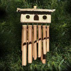 Nichoir Niche Abris Oiseau Jardin Bambou Bamboo Décoration ...