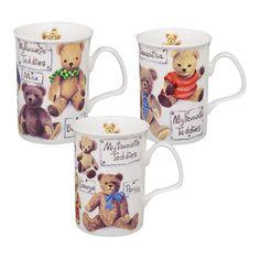 3 stk My Favourite Teddy Krus 0,33 ltr. #krus #porcelæn #børn #stel #spb #smagpåbordet