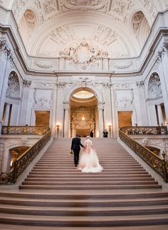 San Francisco City Hall elopement from Deann B Photography. Plan your #wedding the smart way at http://www.myweddingconcierge.com.au