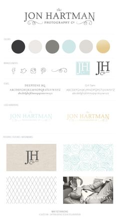 Font, logo, neutral tones Jon Hartman Photography | Photography Business Branding By Salted Ink