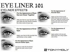Eyeliner Styles | How do you know which style to choose? Here's the 101 on eyeliner by Makeup Tutorials http://makeuptutorials.com/how-to-apply-eyeliner-tips-styles/