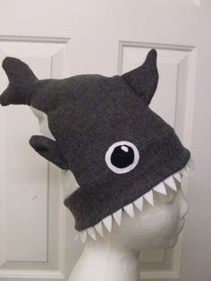 Diy Sewing Projects cute hat for boys at skating party - Shark Attack Hat: Get warm with a cool and scary shark attack hat. This lined hat is fairly simple, and is sure to be the coolest hat out there! Sewing Basics, Sewing Hacks, Sewing Tutorials, Sewing Crafts, Sewing Tips, Sewing Ideas, Basic Sewing, Dress Tutorials, Sewing Patterns Free