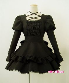 Lolita maid  anime clothes  black cosplay costume halloween Customize free shipping $75.99  Love myself in this black Lolita sissy maid dress to go out and play. WANNA PLAY OR I'LL PLAY MYSELF. ANNIE WILL.