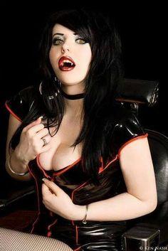 Young vampire fetish model