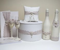 Wedding Wine Glasses, Wedding Flutes, Wedding Unity Candles, Wedding Bottles, Wedding Crafts, Diy Wedding, Wedding Decorations, Wedding Day, Card Box Wedding