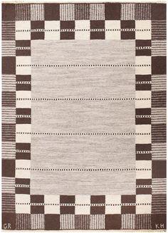 Vintage Swedish Carpet by Klockaregardens Hemslojd 48450 Detail/Large View - By Nazmiyal
