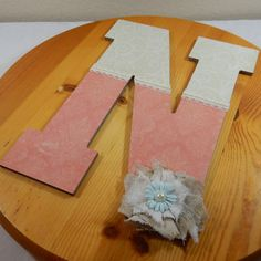 Custom Letters Nursery Decoration Coral and by LybelleCreations