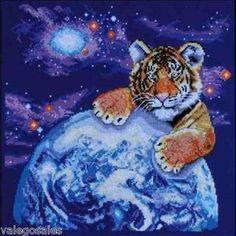 Design Works Counted #crossstitch  Bengal #Tiger Cub #DIY #crafts #decor #needlework #stitching #gift #animal #wildlife