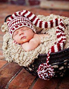 Handgehaakt baby-pakje, voor de ultieme fotoshoot.