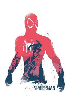 Les affiches de super-héros de 2ToastDesign - Spider-Man