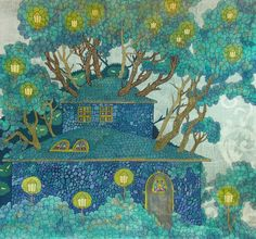 House in the Branches of Trees by yanadhyana.deviantart.com on @deviantART