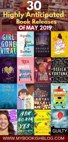 30 Highly Anticipated Books Releasing in May 2019 to look out for, sorted in genres. #bookreleaes #youngadult #romance #thriller #booklists