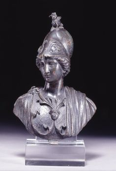 Minerva (Athena), Roman bust (bronze), 1st–2nd century AD, (British Museum, London).