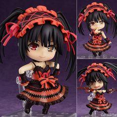 "Nendoroid Date A Live Tokisaki Kurumi #466 PVC Action Figure Collection Model Toy 4"" 10cm MNFG082"