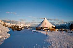 Amadeus- bar at top of Crans Montana, Switzerland