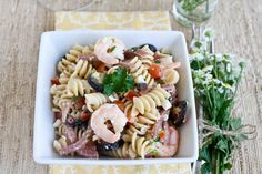 FOODjimoto: Pasta Salad with Shrimp